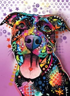 Pit Bull Painting - Ms. Understood by Dean Russo