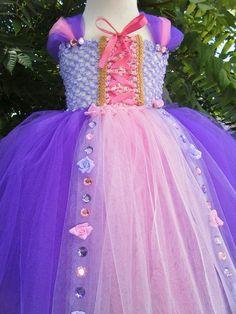 Rapunzel Tangled Inspired Tutu Dress