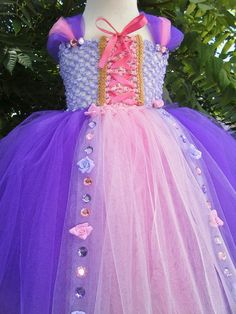 Rapunzel Tangled Inspired Tutu Dress