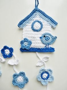 Birdhouse Blue Delft by TeenyWeenyDesign on Etsy
