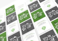 Branding project for the vegetarian and organic food restaurant VQV - Verde que te Quiero Verde.
