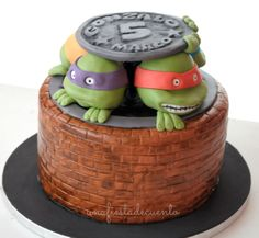 Ninja Turtles Cake Fondant 4th Birthday Parties, 5th Birthday, Birthday Ideas, Cake Fondant, Cupcake Cakes, Cupcakes, Ninja Cake, Turtle Cakes, Baby Boy Birthday