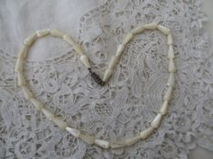 Mother of pearl necklace by Nkempantiques on Etsy