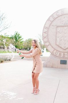 classy champagne senior photography texas tech university