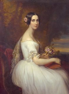 1849-50 Princess Eugenie of Sweden by F. Durck (location unknown to gogm) | Grand Ladies | gogm