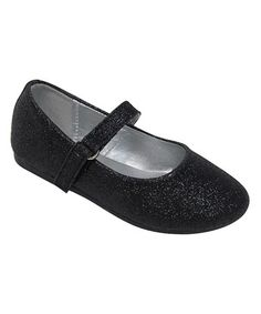 Love this Black Glitter Teshi Ballerina Mary Jane on #zulily! #zulilyfinds