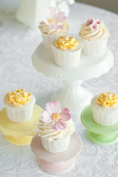 Pretty cupcakes from 'Lulu's Sweet Secrets: A Perfect Cake' blog.