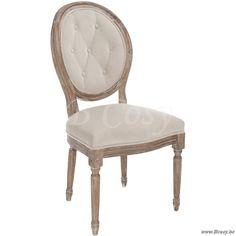 J-Line Louis quinze XV Versailles eiken stoel met beige fluweel 45 Jline-by-Jolipa-68231