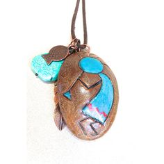 Kokopelli Necklace, aromatherapy native american necklace southwestern... ($31) ❤ liked on Polyvore featuring jewelry, necklaces, feather jewelry, native american feather necklace, feather necklace, tribal necklaces and copper necklace