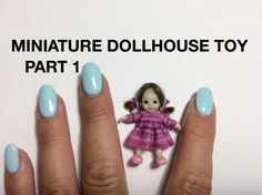 MINIATURE DOLLHOUSE TUTORIAL POLYMER CLAY BABY DOLL FACE SCULPT PART 1