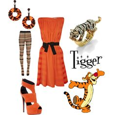 Tigger, created by alsni on Polyvore