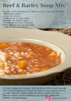 Fall in Love with Soup I'm so pumped for fall so I'm starting early! My favourite thing about fall is SOUP. These Epicure Spiced soup mixes are the perfect h. Epicure Recipes, Jar Recipes, Cooking Recipes, Healthy Recipes, Mason Jar Meals, Meals In A Jar, Epicure Steamer, Meal Ideas, Food Ideas