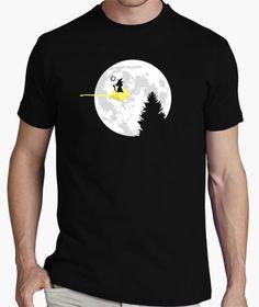 Camiseta Cuidado con la luna llena! Polo Design, New T Shirt Design, Best T Shirt Designs, Tee Design, Edgy Girls, T Shirt Painting, Cool Shirts, Funny Tshirts, Printed Shirts