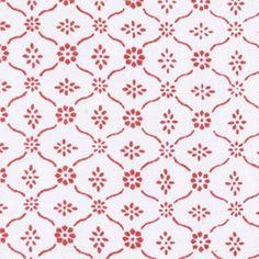 Sag Harbor Coral Blockprinted Linens Fabric