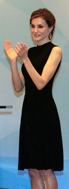 Nina Ricci black cloqué dress . Debuted Apr 2015