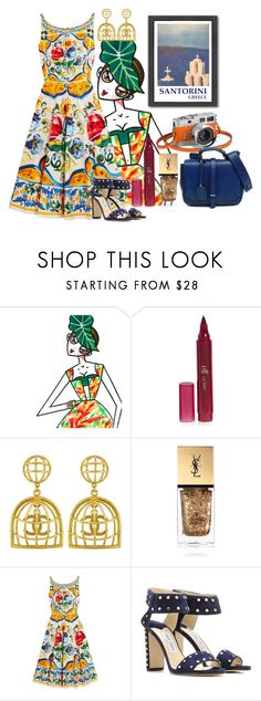 """""""Sem título #1659"""" by natalia ❤ liked on Polyvore featuring Vintage, Yves Saint Laurent, Dolce&Gabbana, FLORIAN, Jimmy Choo and Americanflat"""