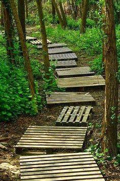 Wooden Pallet Pathway