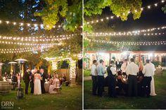 Trentadue Winery || Add market lighting to this intimate space so it really sparkles! #milestoneeventsgroup #marketlights #wedding