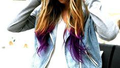 purple dip dye - Google Search