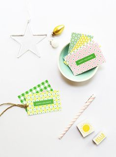 Free Patterned Gift Tag Printables