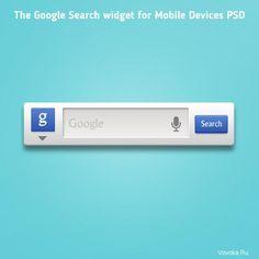 Виджет Google Поиск PSD