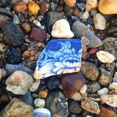 I enjoy a double pickup. #seapottery #seaglass #twoforone