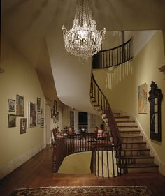 Staircase inside Albania Plantation House, Louisiana.
