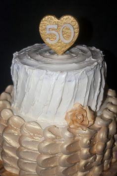 cookiesandsweets - 50th wedding anniversary cake