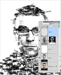 Photoshop technique for incorporating typography in portrait