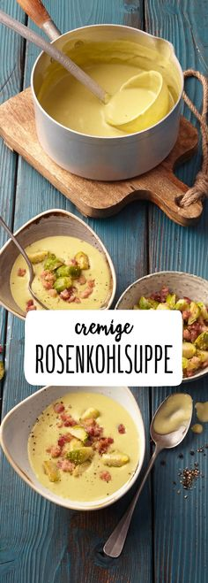 Rosenkohlsuppe Rosenkohlsuppe The post Rosenkohlsuppe appeared first on Suppen Rezepte. Soup Recipes, Vegetarian Recipes, Healthy Recipes, Tasty, Yummy Food, Soups And Stews, Soul Food, Food Inspiration, Feta