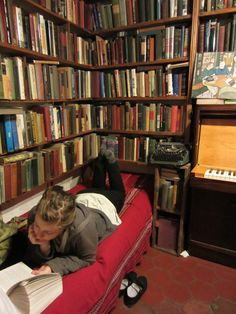 …places to leave notes, a mini room with a manual typewriter in it, a piano, and thousands of books. One could spend days here.  (by wilmacheryl)