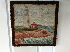 Lighthouse Hooked Rug