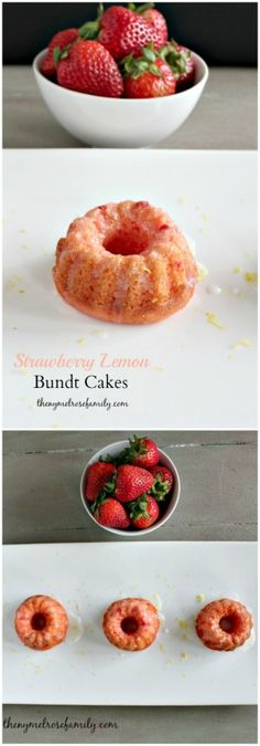 Strawberry Lemon Bundt Cakes