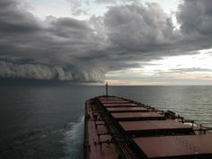 Hurricane Isabel off coast of North Carolina from oil tanker – 2003