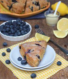 Blueberry Lemon Scones | The Peach Kitchen