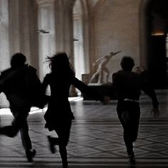 Ron Weasley, Hermione Granger, and Harry Potter running through the great hall. Taken by Colin Creevey during the Battle of Hogwarts, May Book Aesthetic, Aesthetic Pictures, My Academia, Photo Polaroid, Nate River, Slytherin Aesthetic, Photocollage, The Secret History, The Marauders