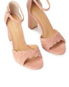 minelli chaussure talon bois compensé plastique transparent hautecouture