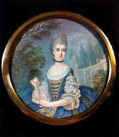Marie Antoinette, Revolution, Miniature, Display, Portrait, Painting, Fashion, Court Dresses, Floor Space