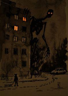 Arte Horror, Horror Art, Dark Fantasy Art, Creepy Drawings, Art Drawings, Images Terrifiantes, Art Sinistre, Creepy Art, Monster Art