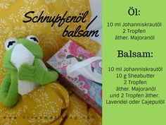 Schnupfenöl... Schnupfenbalsam Snack Recipes, Snacks, Chips, Food, The Ear, Recipies, Snack Mix Recipes, Appetizer Recipes, Appetizers