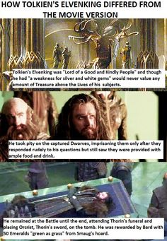 Don't get me started on how horribly they portrayed him. Elves are a good, kind people. Not that proud, self centred creep.
