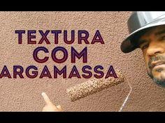 TEXTURA FEITO COM ARGAMASSA E XADREZ, FÁCIL E BARATO. - YouTube