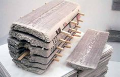 Kranthout-newspaper madera hecha con periodicos