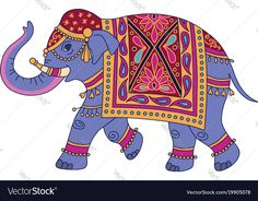 Find Blue Indian Elephant Decorated Traditional Style stock images in HD and millions of other royalty-free stock photos, illustrations and vectors in the Shutterstock collection. Thousands of new, high-quality pictures added every day. Elephant Artwork, Elephant Images, Indian Illustration, Elephant Illustration, Brain Illustration, Elephant Bleu, Elephant Print, Painted Indian Elephant, Animales