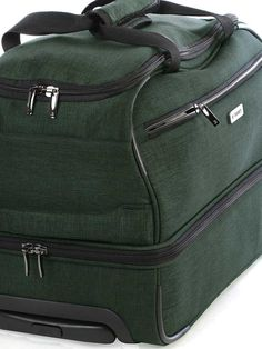 Enjoy the feeling of stepping on board with this Double Decker Carry On softshell bag which has a protective coating. This spacious duffle is the perfect holdall for a weekend getaway as it has 2 wheels and a retractable telescopic handle as well as top Carry On Luggage, Softshell, Bags, Carry On Bag, Handbags, Bag, Totes, Hand Bags
