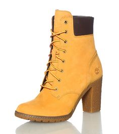 TIMBERLAND Women's high heel boot Lace up closure Suede body TIMBERLAND logo lettering on tongue Padded leather ankle support
