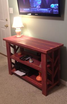 Half rustic x console | Do It Yourself Home Projects from Ana White