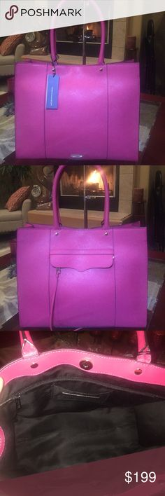 """Great GiftNWT Rebecca Minkoff Handbag Stunning Large Rebecca Minkoff Handbag. Sophisticated and roomy enough for everyday use. Gorgeous """"Berry"""" color. Rebecca Minkoff Bags"""