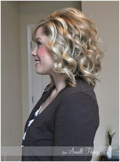 The Small Things Blog: Curling with a Flat Iron