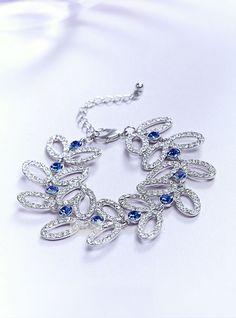 Elegant Alloy/White K Nickel-Free Plating/Czech Diamonds/Zircon Bracelets